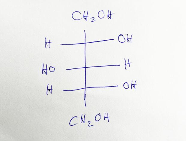 Xylit Strukturformel